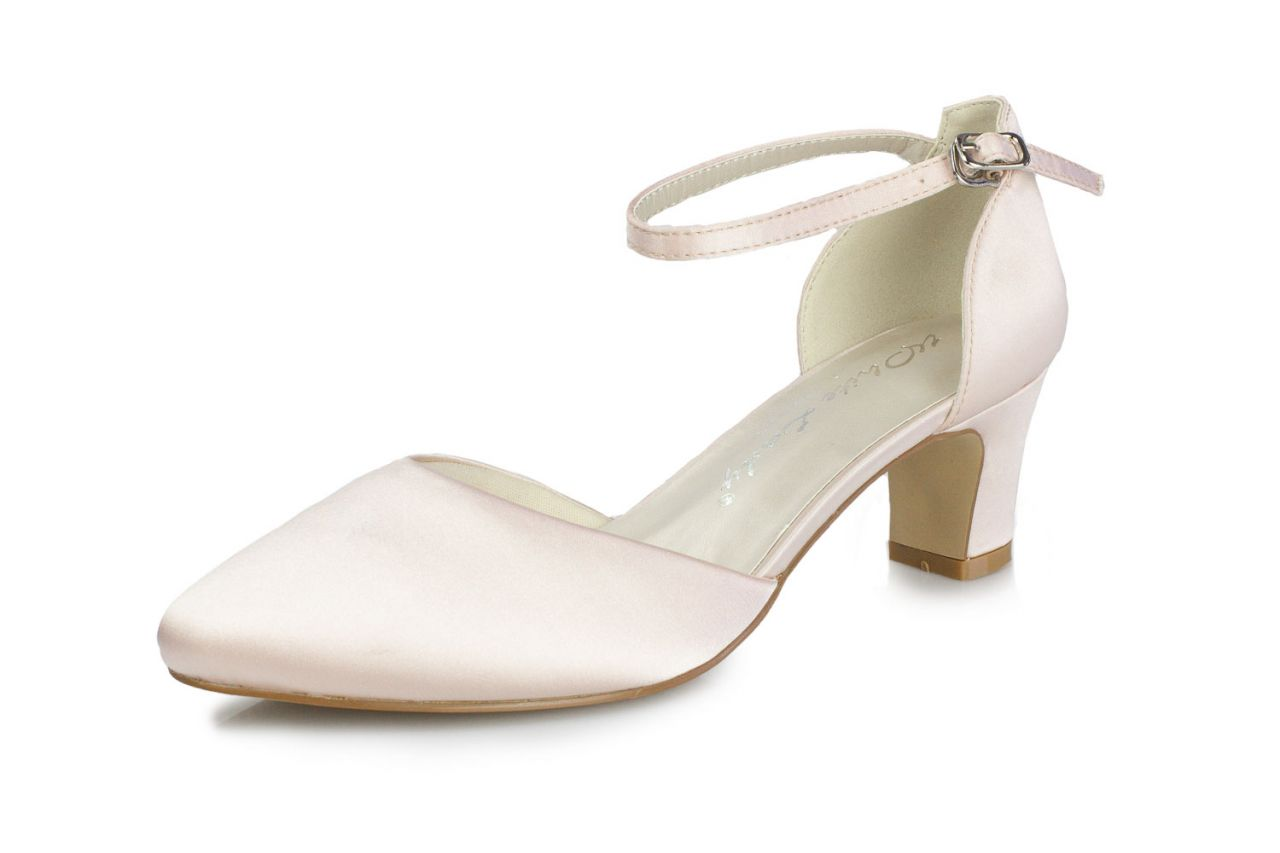 White Lady Brautschuhe Athena blush Satin