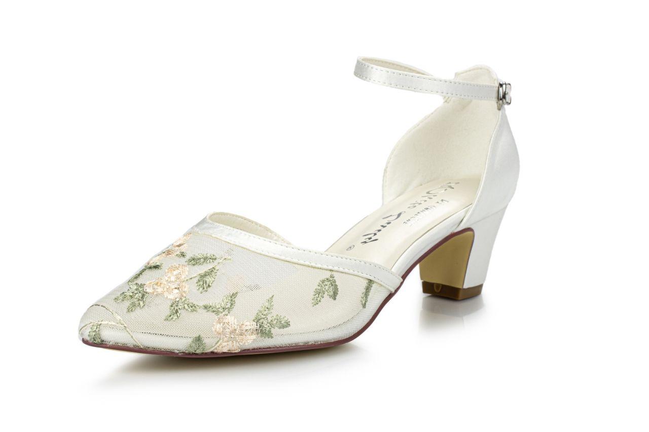 bestickte Brautschuhe Persephone ivory flora